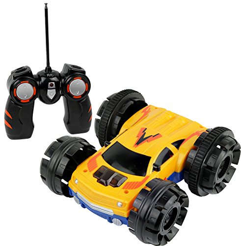 Click N Play Double Sided Tumbling Stunt Rolling Rc Remote Control Car   360  Spin And Lighting