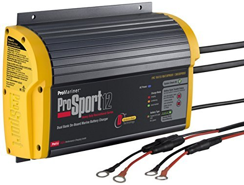 ProMariner 43012 ProSport 12 12 Amp, 12/24 Volt, 2 Bank Generation 3 Battery Charger (Best Boat Battery Charger)