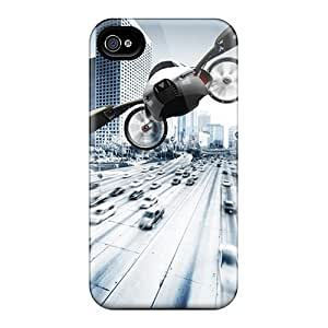 New Style Tpu 4/4s Protective Case Cover/ Iphone Case - Concept Flying Car