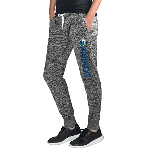GIII For Her NBA Dallas Mavericks Women's Sideline Skinny Pants, Large, Heather (G-iii Baseball)