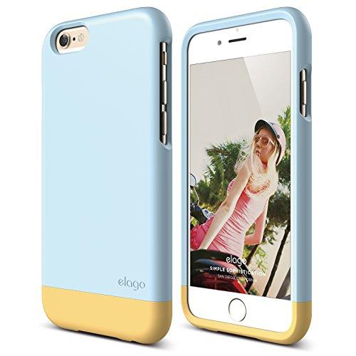 iPhone 6 Case, elago [Glide][Cotton Candy Blue / Cream Ye...