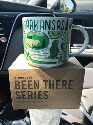 (Starbucks ARKANSAS Been There Series Across The Globe Collection Ceramic Coffee Cup )