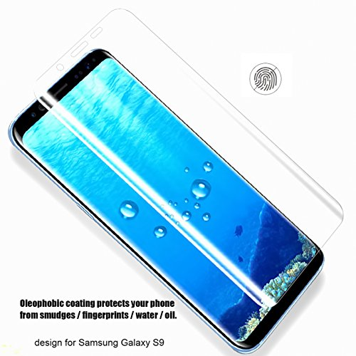 [2 Pack] Galaxy S9 Screen Protector,CaseHQ Full Screen Coverage 3D Curved Anti-Fingerprint Anti-Scratch [High Definition] [Ultra Clear] HD Clear Flexible Film for Samsung Galaxy S9,not Glass by CaseHQ (Image #3)
