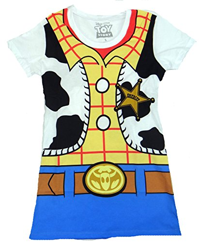 [Toy Story Woody Costume Juniors T-shirt (Extra Large,White)] (Buzz Lightyear Shirt Costume)