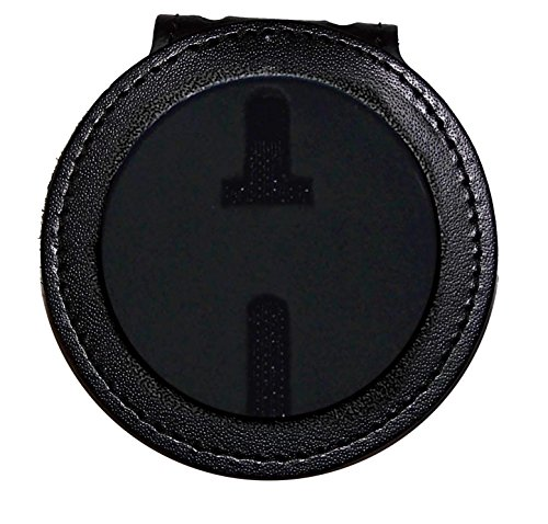 (Perfect Fit US Marshal Belt Clip Badge Holder with Pocket and Chain (2-1/4 inch circle, Cutout PF281))