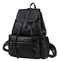 Heshe Womens Soft Vintage Leather Backpacks Casual Daypack for Ladies