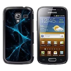FECELL CITY // Duro Aluminio Pegatina PC Caso decorativo Funda Carcasa de Protección para Samsung Galaxy Ace 2 I8160 Ace II X S7560M // Disco Laser Lights Fog Black