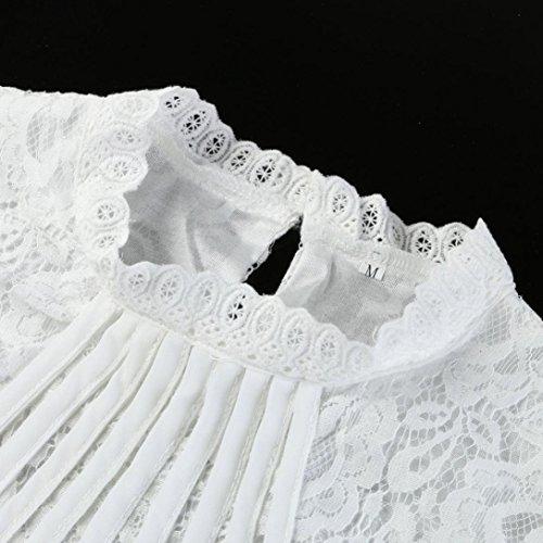 Magliette Estive Bianco Maglietta Donna Taglie Forti Lunghe Chiffon Donna Lunga Vintage Primavera Top Pullover Casual Felpa Eleganti Camicetta Manica Donna Maniche Felpe Elegante Homebaby IC4wqtC