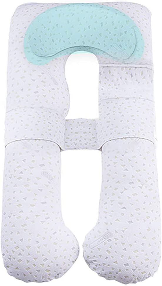 B07SJ67DJM Pregnant Women Pillow Side Sleeping Pillow Bed Linings Lumbar Pillow Four Seasons Apply Feeding Pillow Child Safety Fence Parent-Child Game Pillow Leisure Pillow (Color : White, Size : 1408020cm) 51y1Dqki2BSL.SL1024_