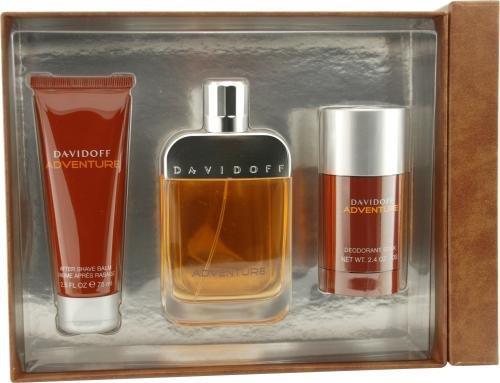 Davidoff Adventure By Davidoff For Men Edt Spray 3.4 Oz & Aftershave Balm 2.5 Oz & Deodorant Stick 2.5 (Davidoff After Shave Balm)