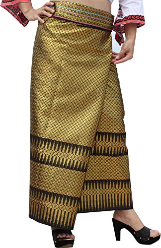 (RaanPahMuang Unstitched Heavy Thick Thai Silk Fabric for Wedding Dresses 40x65