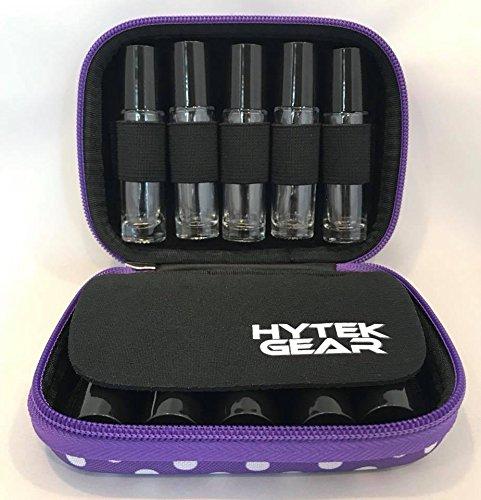 Essential Oil Carrying Case Holds 10 Bottles Perfect for Roller Bottles 5ml - 10ml Multiple Colors! (1 Pack, Purple Polka Dot)