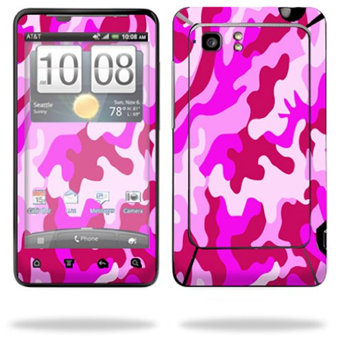 Mightyskins Protective Vinyl Skin Decal Cover for HTC Vivid 4G PH39100 B AT&T Cell Phone wrap sticker skins Pink Camo (Cover Ph39100 Htc)