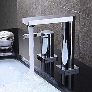 VIVI HPB Contemporáneo Acabado cromado latón dos agujeros single handle Sink grifo