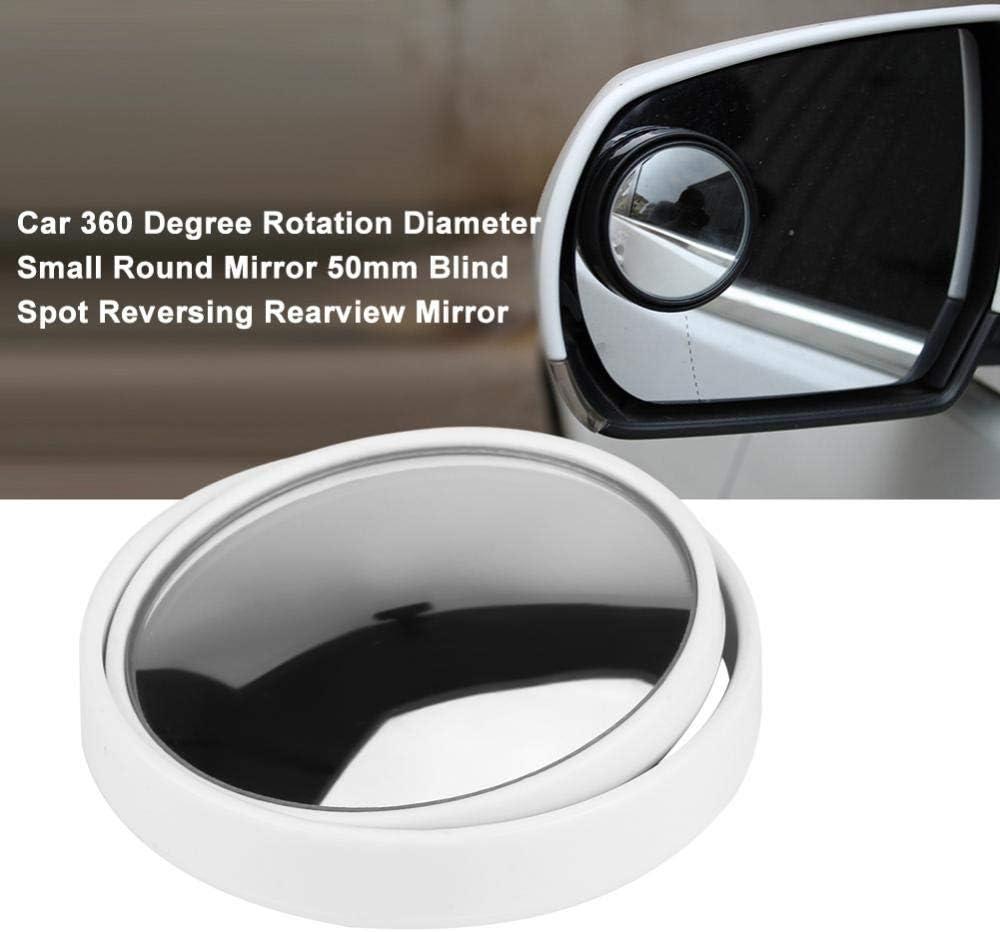 Black auto Rotazione 360 gradi Diametro Specchio tondo piccolo Specchio retrovisore retromarcia 50 mm Punto cieco Specchio retrovisore punto cieco