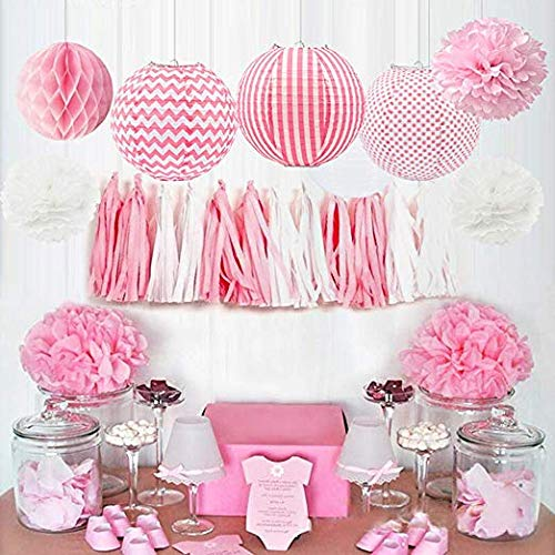 HappyField Baby Girl Baby Shower Decoraciones Fiesta de ...