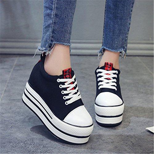MIKA Slip on Tennis Black Mesh Platform Sports HOM Lightweight Shoes Wedges Womens Shoes rRTqrY