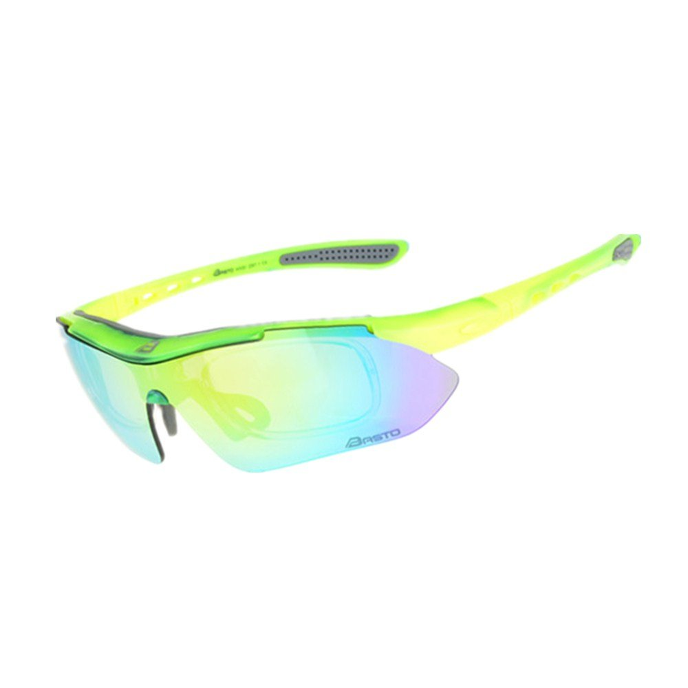 YFFS Cycling Glasses Bicycle Color-Changing Glasses Adult Outdoor Glasses Suitable for Outdoor Cycling Lovers (Color : Green)