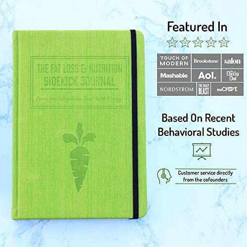 Nutrition Sidekick Journal: Food Journal, Meal Planner Notebook, The Top Food Log Journal for Tracking Meals and Exercise. Food Diary Journal/Diet Journal and Weight Loss Journal for Women & Men. 8