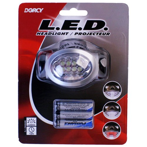 [Dorcy 41-2095 Adjustable LED Headlight Flashlight with Blinking Red Light Setting, 32-Lumens, Black] (Columbus Ohio Halloween)