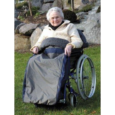 Schlupfsack ROYAL EXKLUSIV Wirkflor, f. Erwachsene marine, Rollstuhl-Zubehör