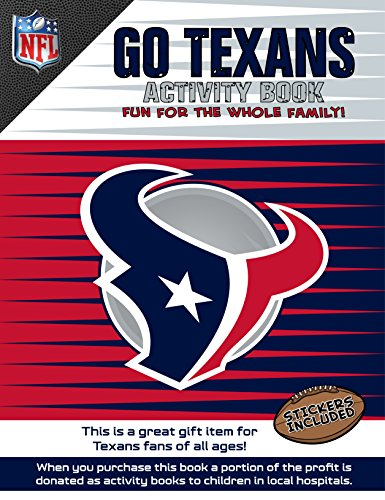 NFL Houston Texans Activity Book/Red/Blue/One Size by In The Sports Zone