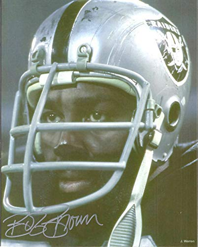 - Bob Brown Autographed/Signed Oakland Raiders 8x10 Photo