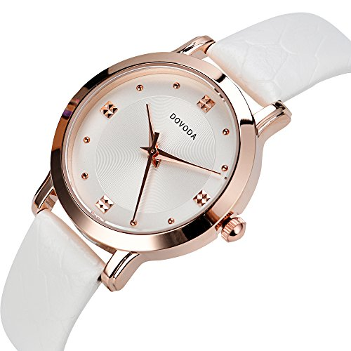 Dovoda ladies watches quartz analog simple dress casual watch for women rose gold small face for Dovoda watches