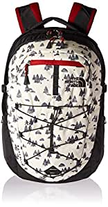 The North Face Borealis Backpack White Sasquatch Print / Cardinal Red