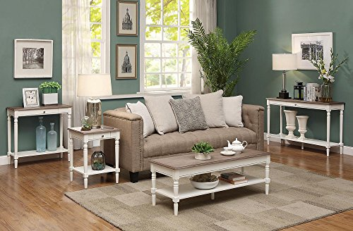 Convenience Concepts French Country Coffee Table, Driftwood / White