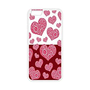 Vety Spiral Heart Pattern IPhone 6 Plus Cases, {White}