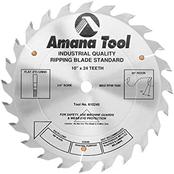 Amana Tool 610240 Ripping Standard 10-Inch x 24 Tooth FT 5/8 Bore Saw Blade