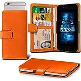 (Orange) Huawei Honor 7i / Shot X Adjustable Spring Wallet ID Card Holder Case Cover ONX3®