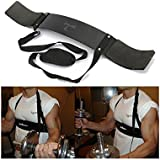 Iris Fitness Adjustable Fitness Supporter Arm Blaster Body Bicep Building Bomber Weight Lifting Straps