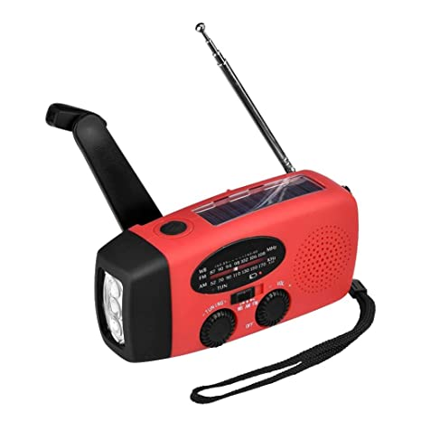 beautygoods Radio de energía Solar, Radio de manivela de ...
