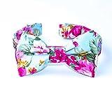 Girl Dog Bow Tie Collar Floral Female Dog Bow Tie Collar Blue Wedding Dog Collar Bow Tie Preppy Custom Dog Bow Tie Collar For Dogs Bowtie