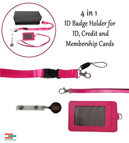 4-in-1-pink-2-sided-vertical-leather-credit-card-and-id-holder-with-detachable-lanyard-1-neck-lanyar
