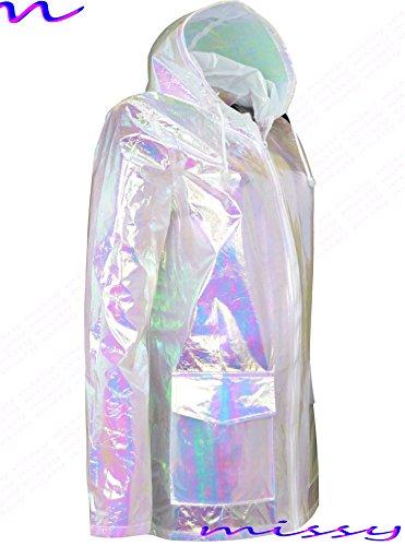 Ladies Iridescent M1427 Waterproof Sizes Iridescent Parka MAC RAIN 8 Festival Womens shell Raincoat 16 6UdwUqF