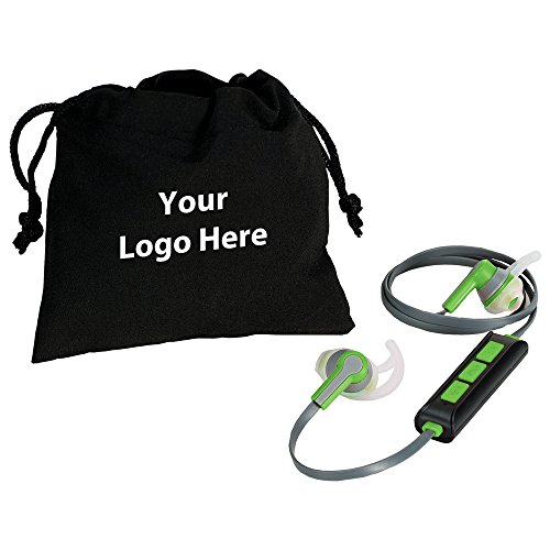Boom Bluetooth Earbuds - 24 Quantity - $17.25 Each - PROMOTIONAL PRODUCT / BULK / BRANDED with YOUR LOGO / CUSTOMIZED by Sunrise Identity