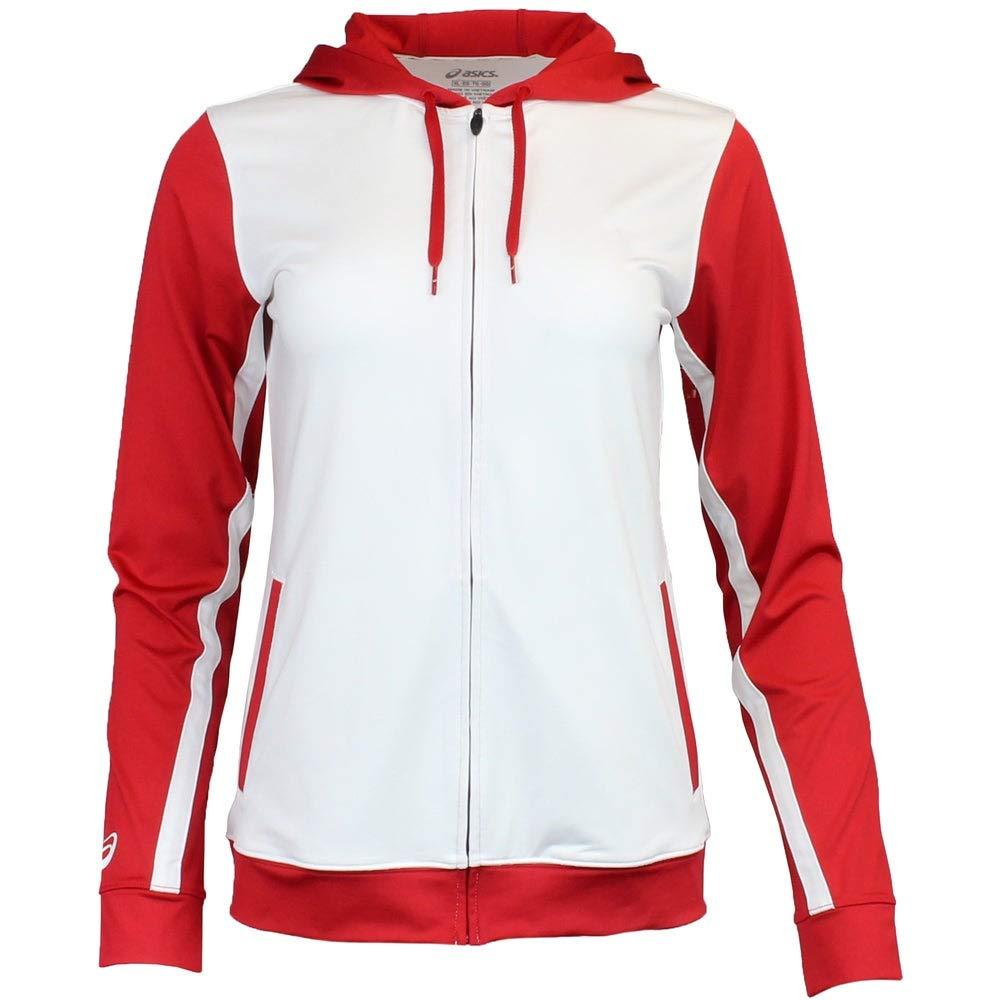 ASICS Unisex-Child Jr. Lani Jacket, White/Red, Medium by ASICS