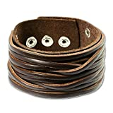 SilberDream leather bracelet brown, for man, genuine leather LA2249B
