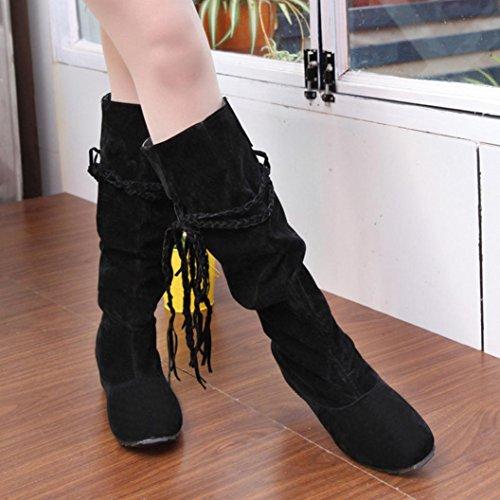 Invernali Nero Inverno Caviglia Boots con Piatta Stivali Stivali Scarpe Donna Cavaliere alla BeautyTop Stivaletto Autunno 5IYwqHq6