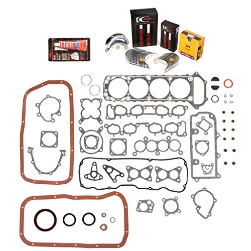 Main Bearing Pickup Set (Evergreen Engine Rering Kit FSBRR3005A\2\0\0 Fits 89-97 Nissan 240SX D21 Pickup KA24E Full Gasket Set, Standard Size Main Rod Bearings, 0.50mm / 0.020