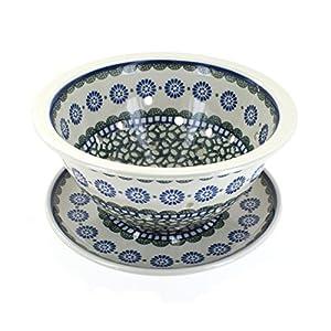 Blue Rose Polish Pottery Maia Berry Bowl & Plate