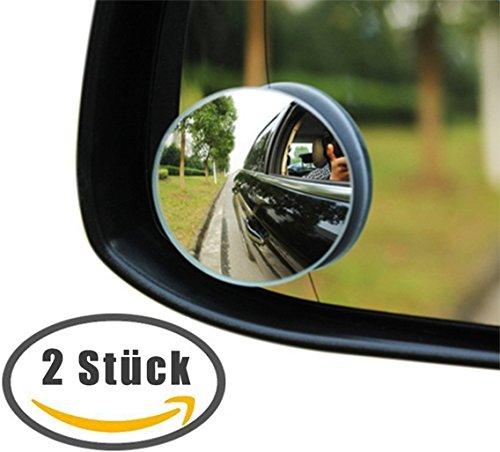 daorier Siège arrière miroir bébé pour siège auto coque bébé pour bébé Enfants voiture universel coupe forme ronde grand miroir Lot de 2