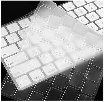 i-Buy Teclado Cubierta para Apple Magic Keyboard, Ultra Delgado Keyboard Cover TPU Pegatinas Teclado Skin Protectora Piel [Diseño en inglés de la ...