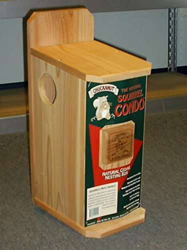 Chuckanut Products 00004 Squirrel Condo, Brown, - Condo Nut