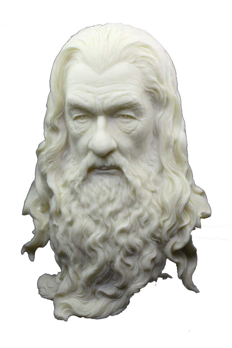 SDBRKYH Lord of The Rings Sculpture, Gandalf Statue Hobbit Master Bust Avatar Ornaments Desktop Decorations Resin Crafts 30 cm,A
