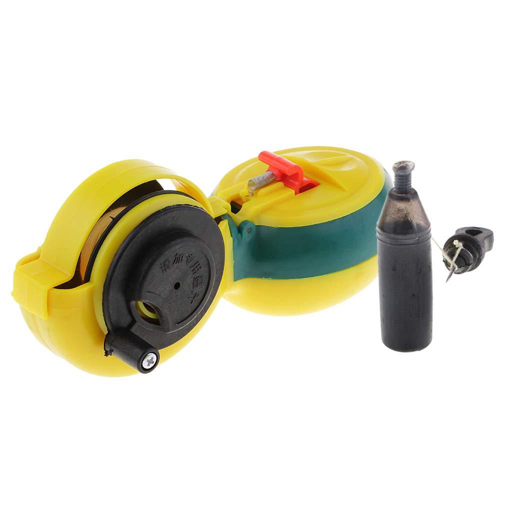 Fenteer Cordeau Traceur Compact Machine à Encre pour Menuisier à Manivelle Câble de 12m Marqueur d'Encre de Menuisier