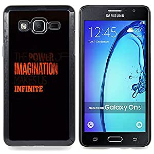Imagination Infinite Orange Clean Black Caja protectora de pl??stico duro Dise?¡Àado King Case For Samsung Galaxy On5 SM-G550FY G550